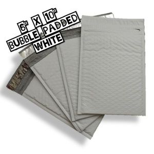 "40 Bubble Padded 6""x10"" Poly Mailers"